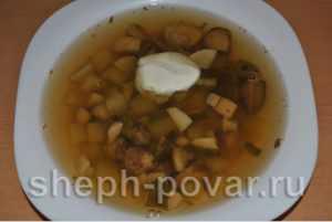 Как готовить вкусный грибной суп из шампиньонов